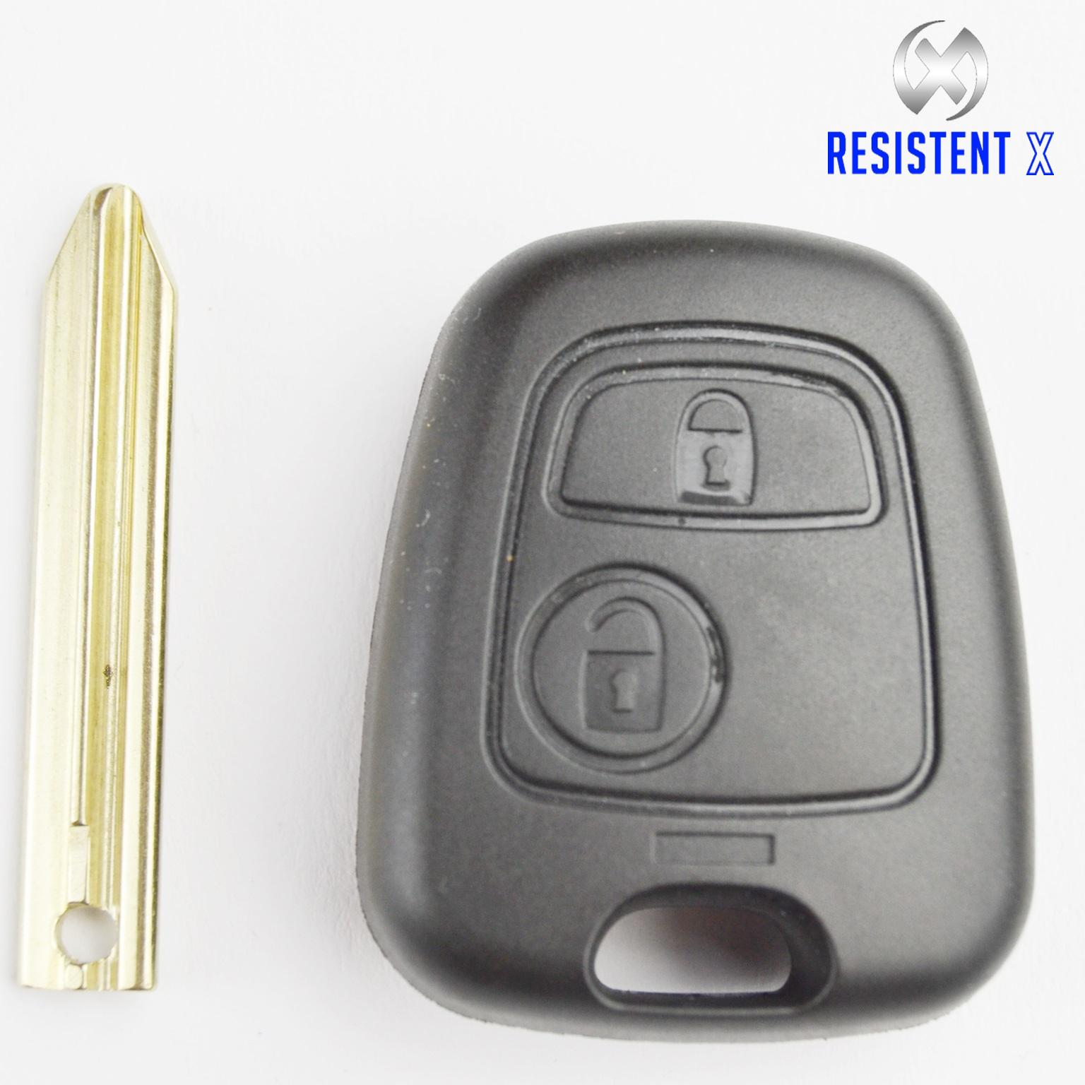 C217 Ersatz-Gehäuse Schlüssel für 2 Tasten Fernbedienung Citroen,Peugeot,Renault